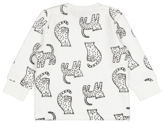 Baby-Pyjama, Samt, Leopard weiß weiß - 1000024780 - HEMA