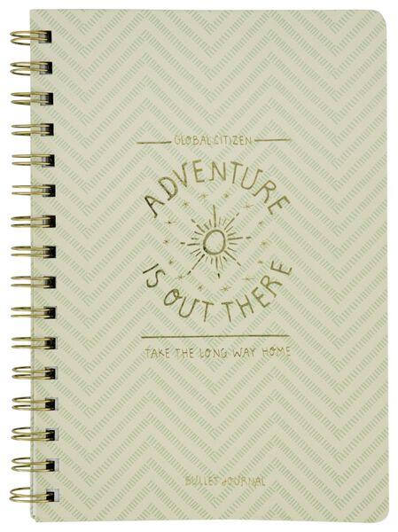 Bullet-Journal, DIN A5, Adventure, grün - 14590241 - HEMA