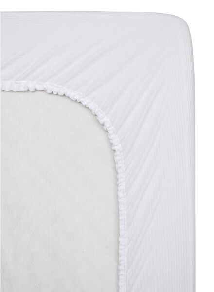 HEMA Elastisches Molton-Spannbettlaken Weiß