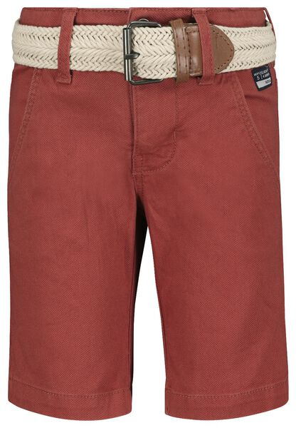 Kinder-Shorts, Comfy Fit dunkelrot dunkelrot - 1000018941 - HEMA