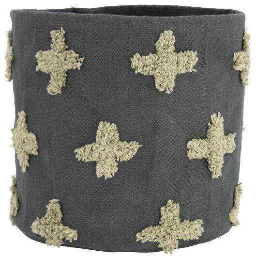 Image of HEMA Canvas Basket Ø25x25 Grey