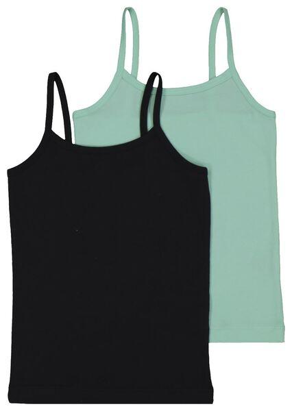 2-pack children's vests mint green mint green - 1000017997 - hema