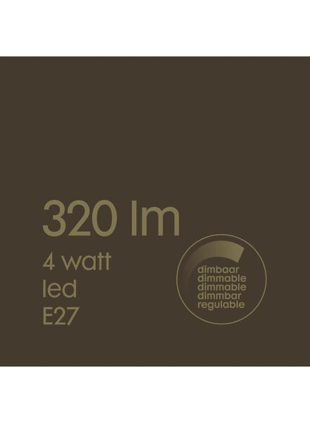 LED-Lampe, 4W, 320Lumen, Röhre, gold - 20020084 - HEMA