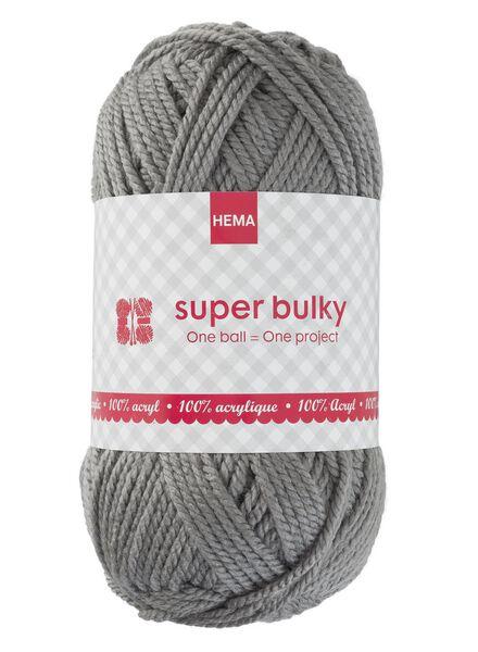 knitting yarn super bulky - grey super bulky grey melange - 1400167 - hema