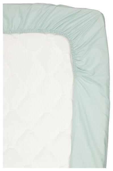 drap-housse coton doux 70x150 vert clair - 5120037 - HEMA