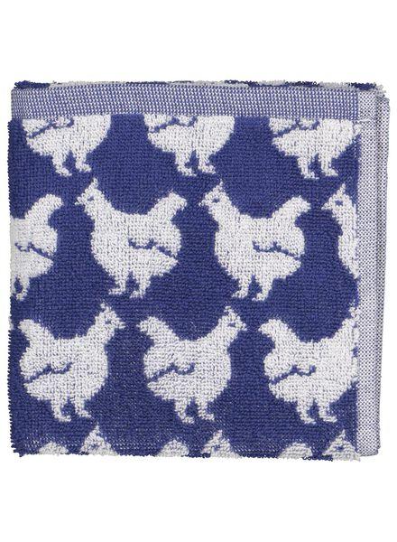 essuie-mains 50x50 poules - blanc/bleu - 5400103 - HEMA