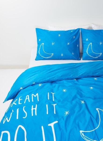 housse de couette-coton doux-240x220cm-bleu étoiles - 5700028 - HEMA