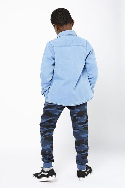 Kinder-Sweathose, Tarnfleckenmuster dunkelblau dunkelblau - 1000022267 - HEMA