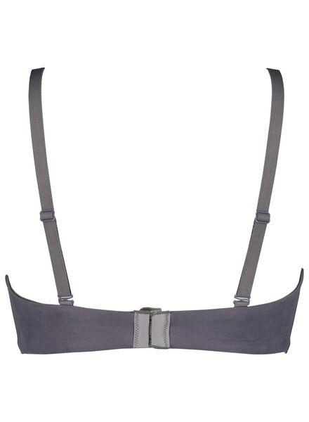 padded bra no underwire micro grey grey - 1000014482 - hema