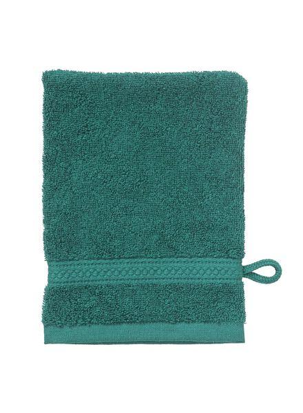 Waschhandschuh, schwere Qualität, 16 x 21 cm – dunkelgrün - 5240020 - HEMA