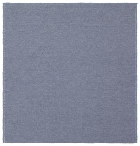 torchon - 65 x 65 - coton - chambray - 5490041 - HEMA