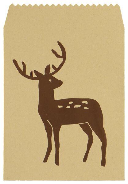 4 sacs cadeau sapin de noël/renne - 25700147 - HEMA