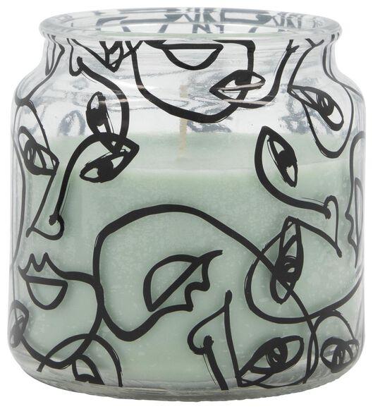 bougie dans un verre - Ø 10 cm - vert clair - 13502530 - HEMA