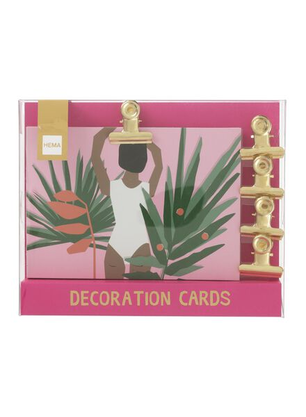Image of HEMA 10-pack Decorative Cards With Magnetic Clips
