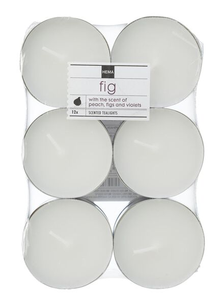 12-pack maxi scented tea lights fig - 13502325 - hema