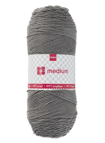 knitting yarn medium - grey medium - 200g grey - 1400166 - hema
