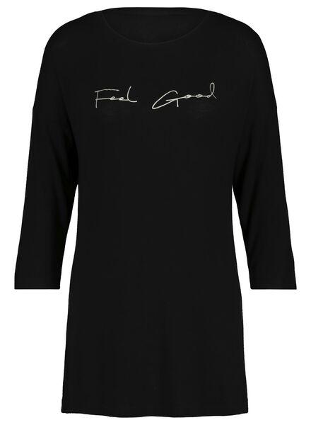 Damen-Nachthemd schwarz schwarz - 1000017237 - HEMA