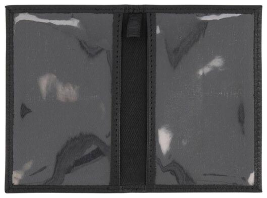 Fahrkartenhülle, RFID-Schutz, Leder, schwarz - 18120070 - HEMA