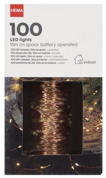verlichtingssnoer koper100 LED lampjes - 10 meter - 25530327 - HEMA