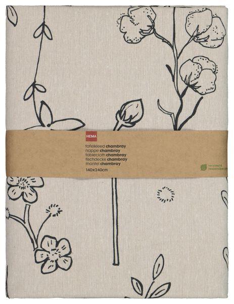 nappe 140x240 chambray plantes recyclé - 5300094 - HEMA