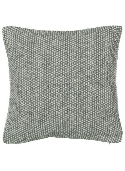 housse de coussin - 40 x 40 - gris/blanc - 7392028 - HEMA