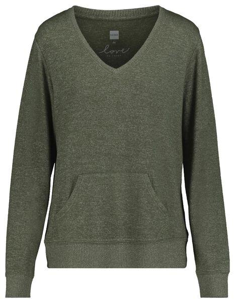 t-shirt de nuit femme sweat vert vert - 1000018754 - HEMA