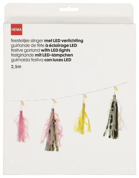 Girlande mit Lichterkette, 2.5 m - 14280142 - HEMA
