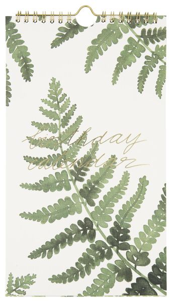 calendrier d'anniversaires spirale 28x16 feuilles - 14126694 - HEMA