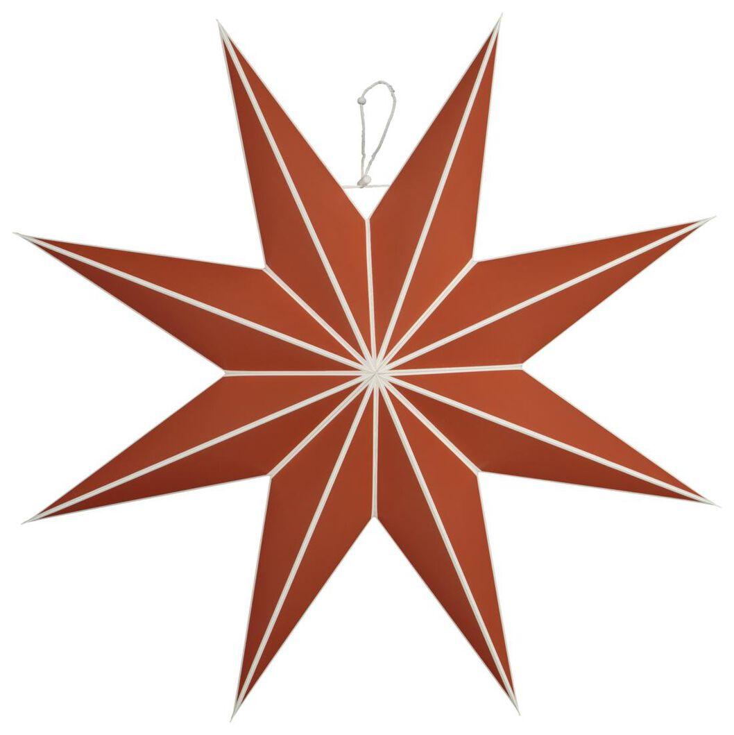 étoile de noël en papier Ø70cm terracotta - 25104340 - HEMA