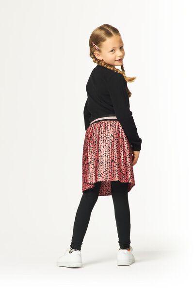 jupe plissée enfant fleurs rose rose - 1000024762 - HEMA