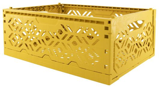 folding crate recycled - 39 x 29 x 15 cm - yellow ochre yellow ochre 39 x 29 x 15 - 39892912 - hema