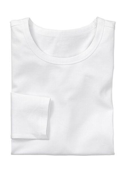 men's slim-fit T-shirt white white - 1000005994 - hema