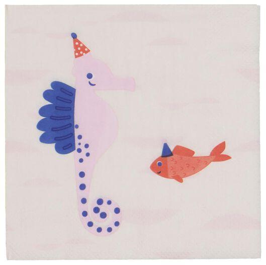 20 serviettes paper 24x24 - seahorse - 14200331 - hema