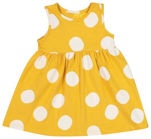 Babykleiderroecke - HEMA Baby Kleid, Ärmellos, Biobaumwolle Gelb - Onlineshop HEMA