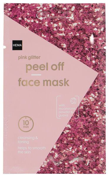 mask peel-off glitter pink 10 ml - 17800302 - hema