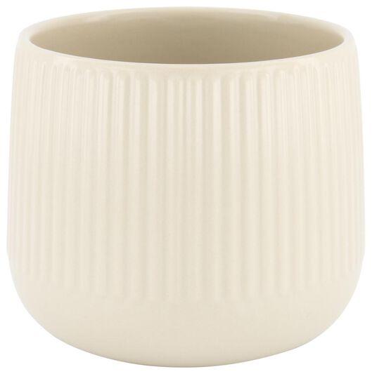 cache-pot Ø14x13 - faïence - blanc cassé - 13322024 - HEMA