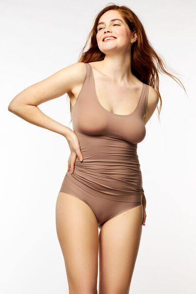 Damen-Hemd Second Skin mittelbraun mittelbraun - 1000022960 - HEMA