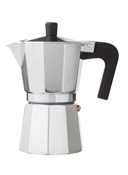 espresso coffee pot for 6 small cups - aluminium - 80630197 - hema
