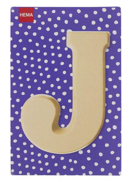 white chocolate letter J - 10037008 - hema