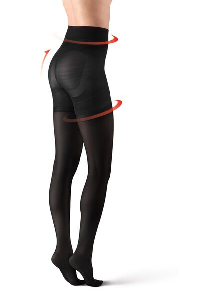 ultimate control tights 40 denier black black - 1000012493 - hema
