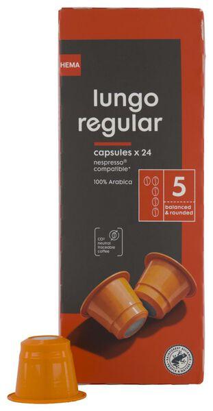 24 capsules de café lungo regular - 17180002 - HEMA