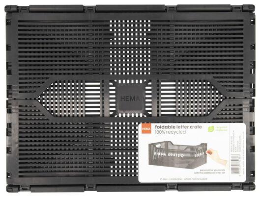 Buchstabentafel-Klappkiste, recycelt, 30 x 40 x 17 cm, schwarz - 39821037 - HEMA
