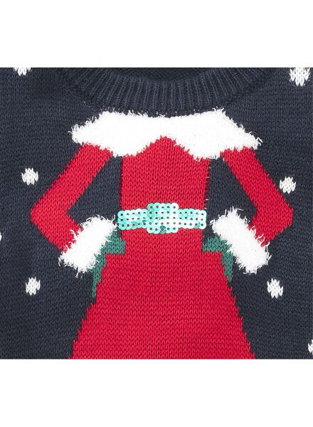 children's Christmas sweater dark blue dark blue - 1000006271 - hema