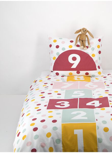 children's duvet cover - 140x200 - hopscotch court pink - 5740018 - hema