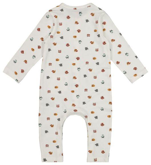 newborn jumpsuit - organic cotton white white - 1000017658 - hema