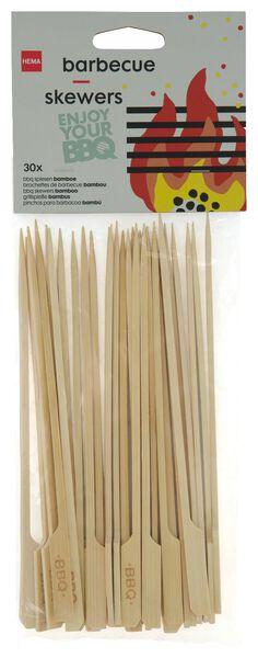 barbecue spiezen bamboe 20cm - 30 stuks - 41820378 - HEMA