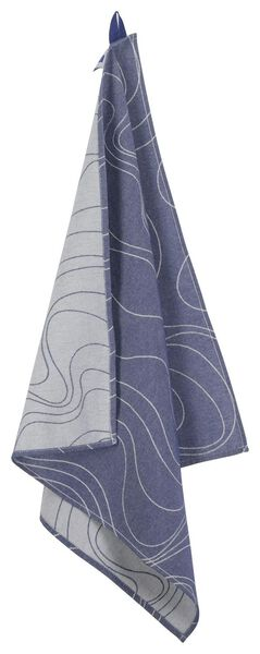 theedoek - 65 x 65 - katoen - blauw golven - 5490033 - HEMA
