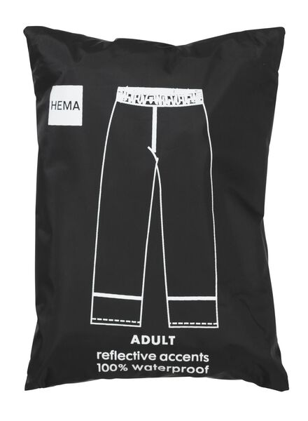 foldable unisex rainproof trousers black black - 1000006244 - hema