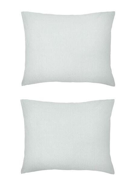 taies d'oreiller - jersey coton - gris gris clair 60 x 70 - 5140129 - HEMA