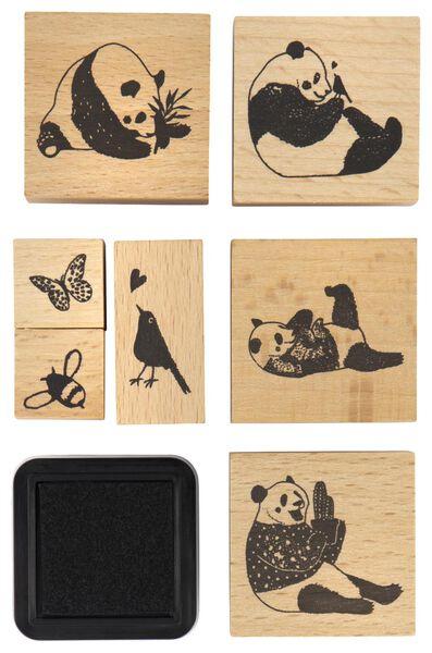 stempelset 8-delig panda - 14860077 - HEMA